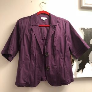 Coldwater Creek plum spring jacket sz. 14- NWT!